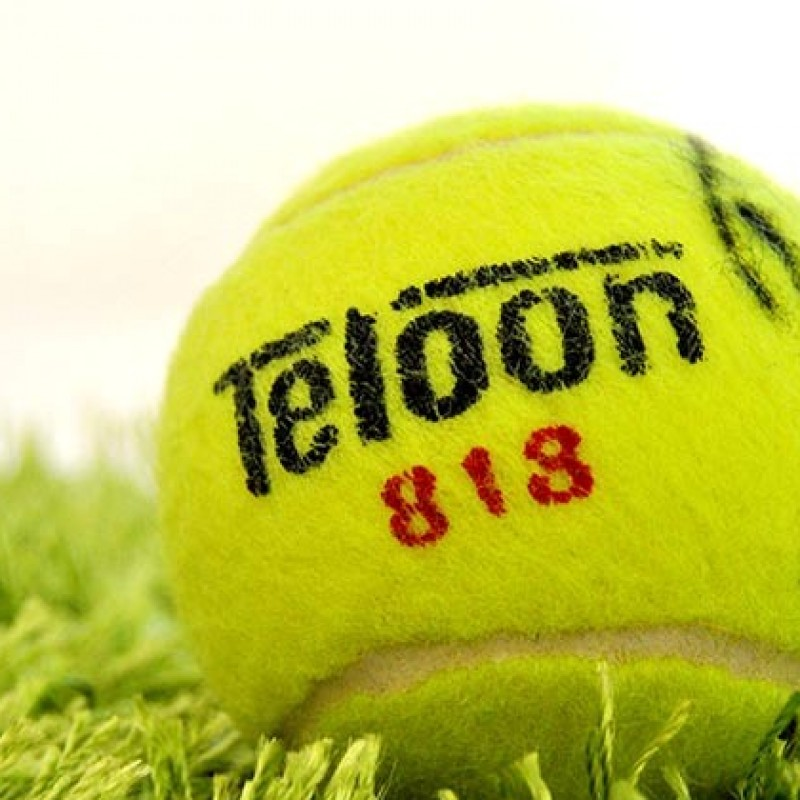 Tennis ball autographed by Rafel Nadal