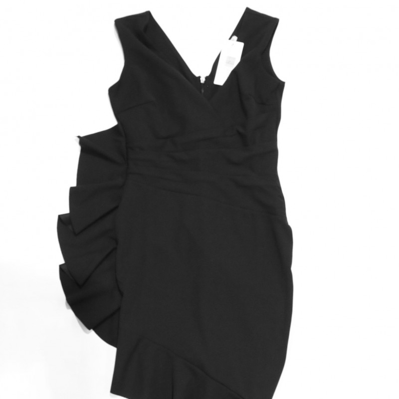 Black Sistaglam Dress with Side Ruffle Donated by Jessica Wright