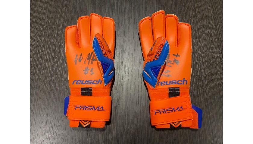 Reusch Goalkeeper's Gloves - Signed by Buffon