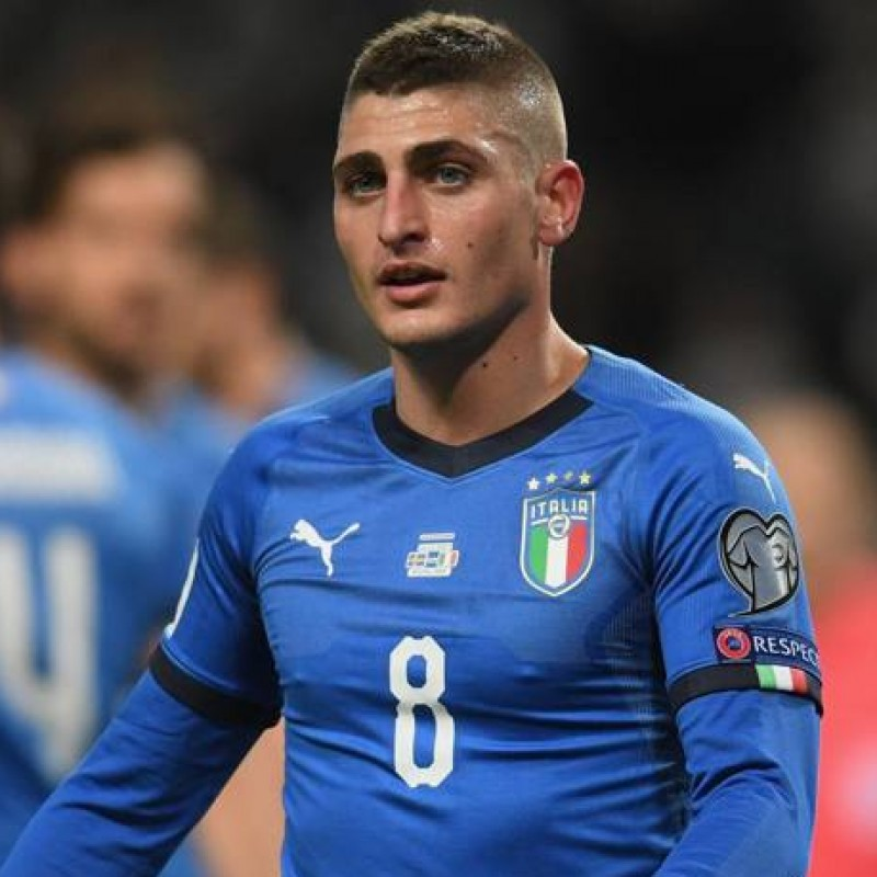 Verratti's Official Italy Signed Shirt, 2017