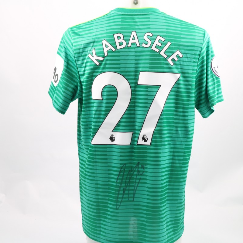 Kabasele's Watford FC Issued and Signed Away Poppy Shirt