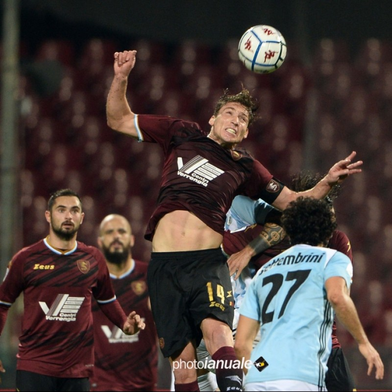 Di Tacchio's Salernitana Signed Match Shirt, 20/21
