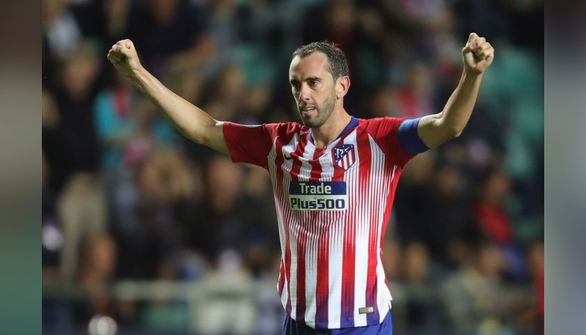 Godin's Atletico Madrid Match Shirt, UEFA Super Cup 2018