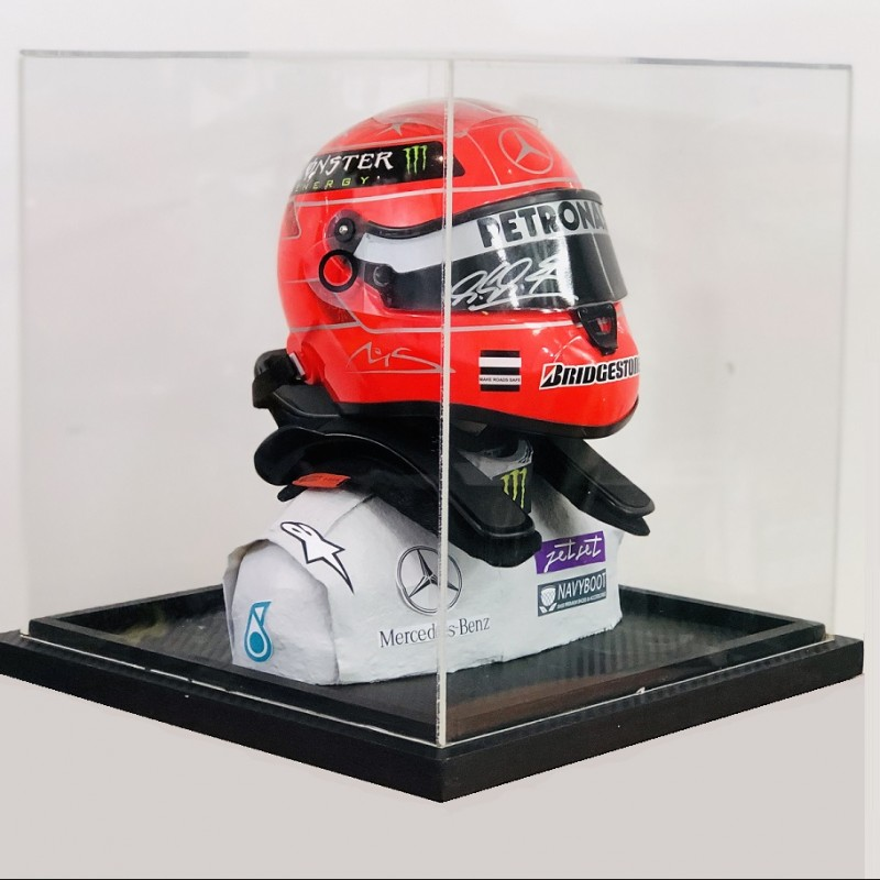 Michael Schumacher Signed Mercedes Scale Replica Helmet