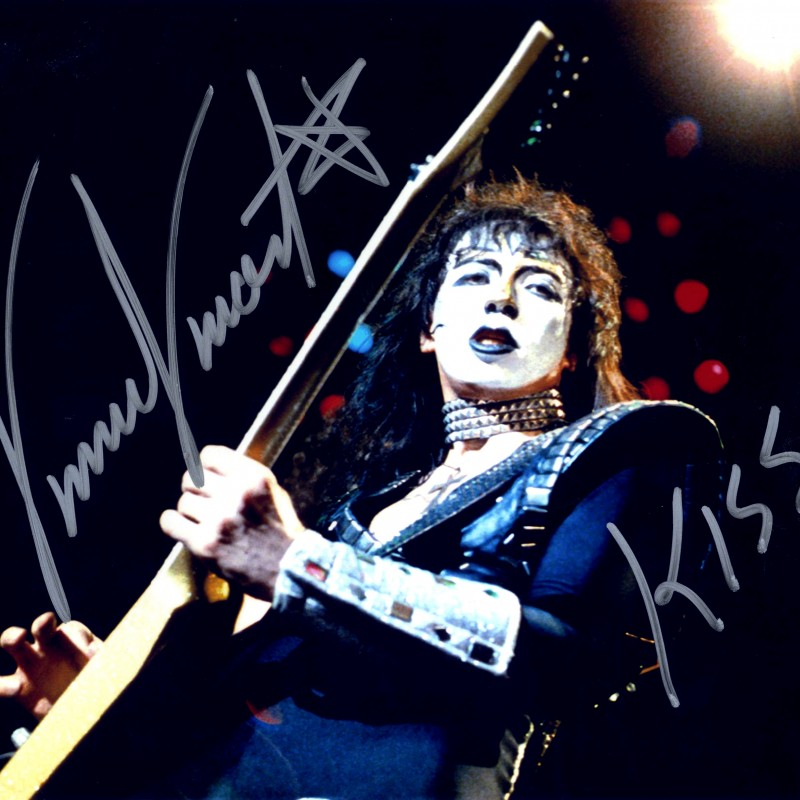 "Vinnie Vincent ""KISS"" Hand Signed Photograph"
