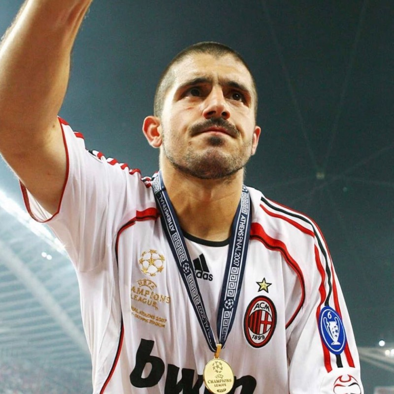 Gattuso's Milan Match-Issued Shirt, Champions League Final 2007