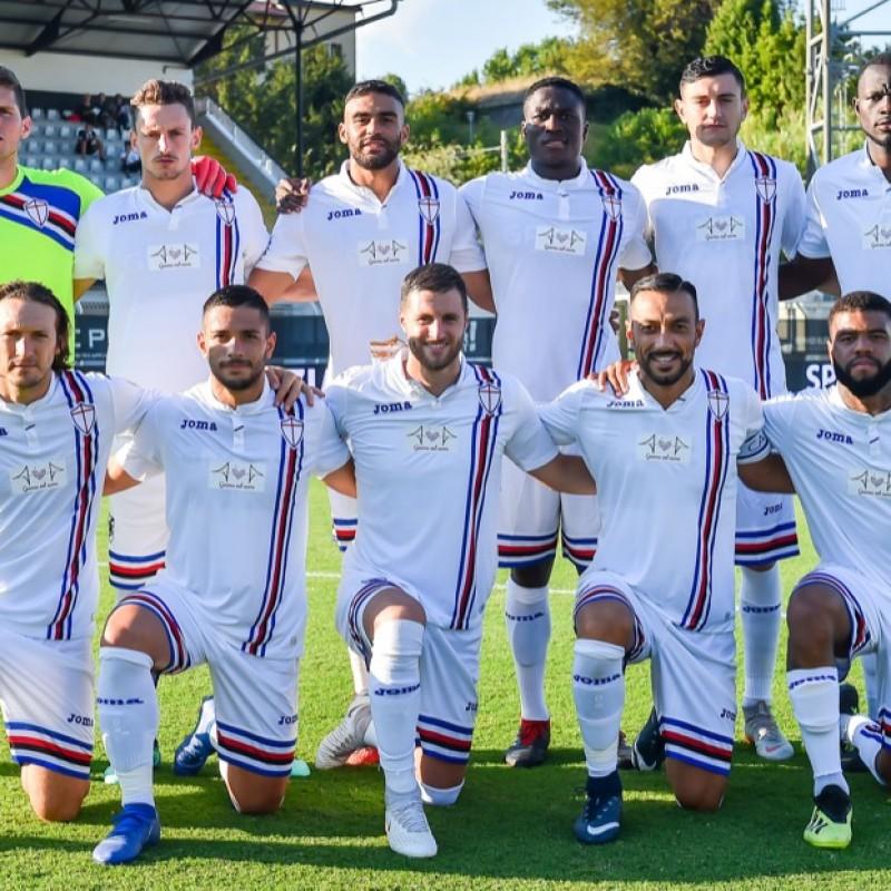 Ramirez's Worn Shirt Bearing Special Genoa Patch, Spezia-Sampdoria