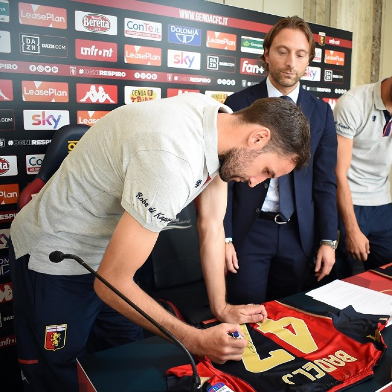 Badelj's Signed Shirt from Press Conference Presentation