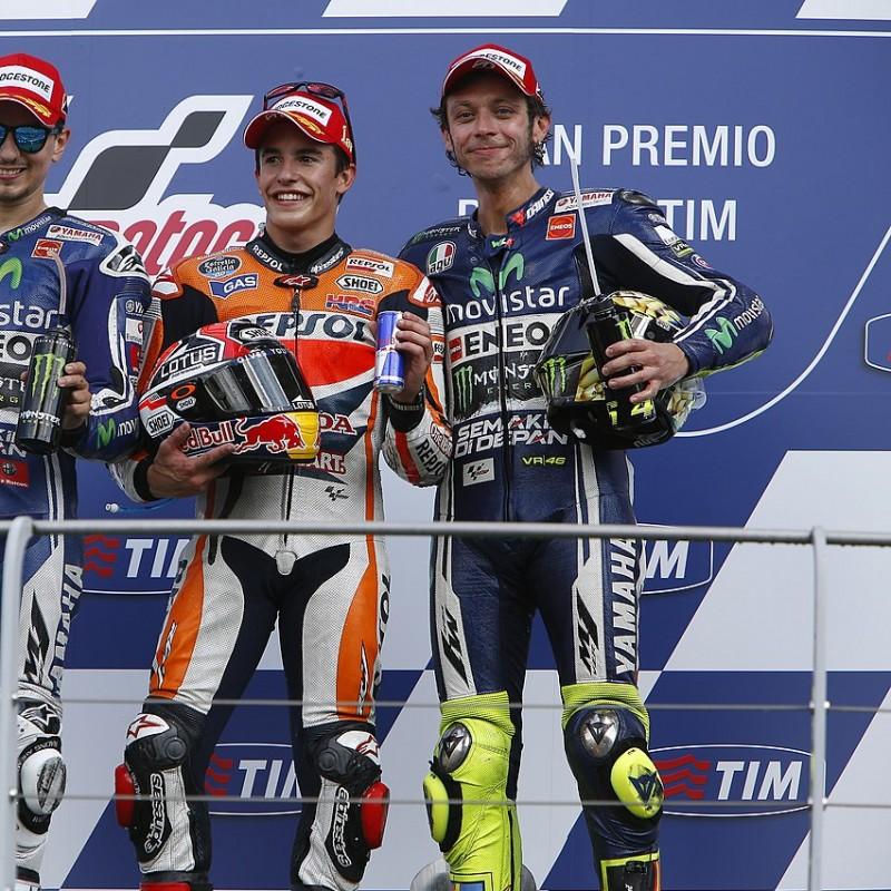 Valentino Rossi Signed Replica Race Suit, MotoGP Mugello 2014