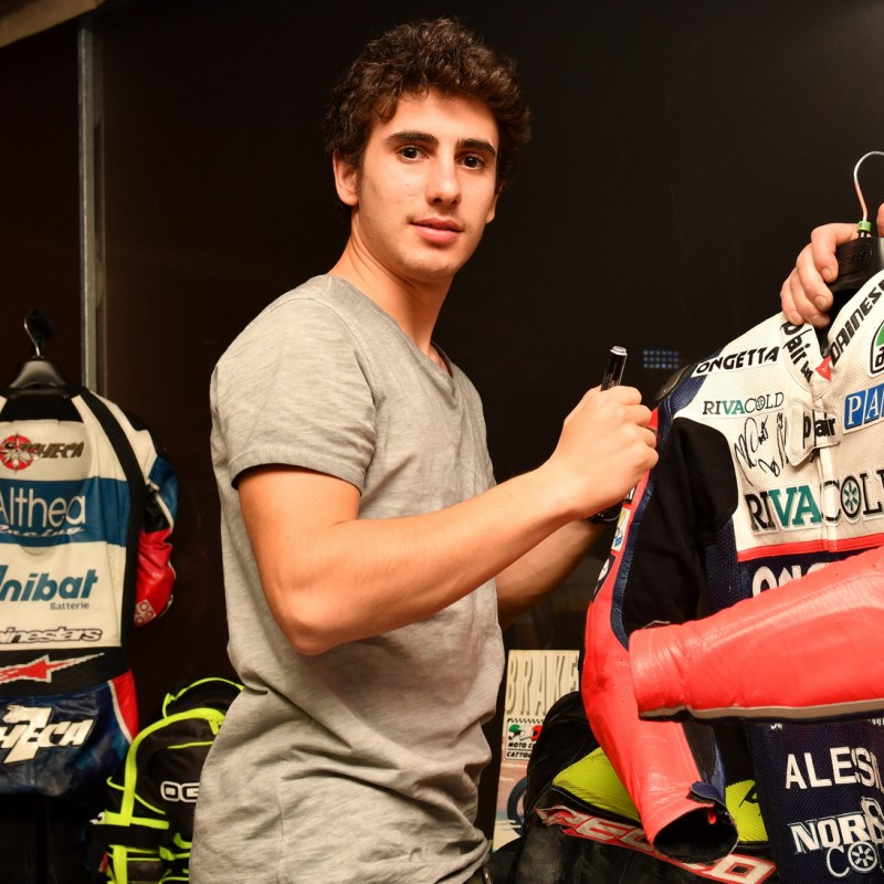 Niccolò Antonelli worn racesuit, Moto3 2016 - Signed