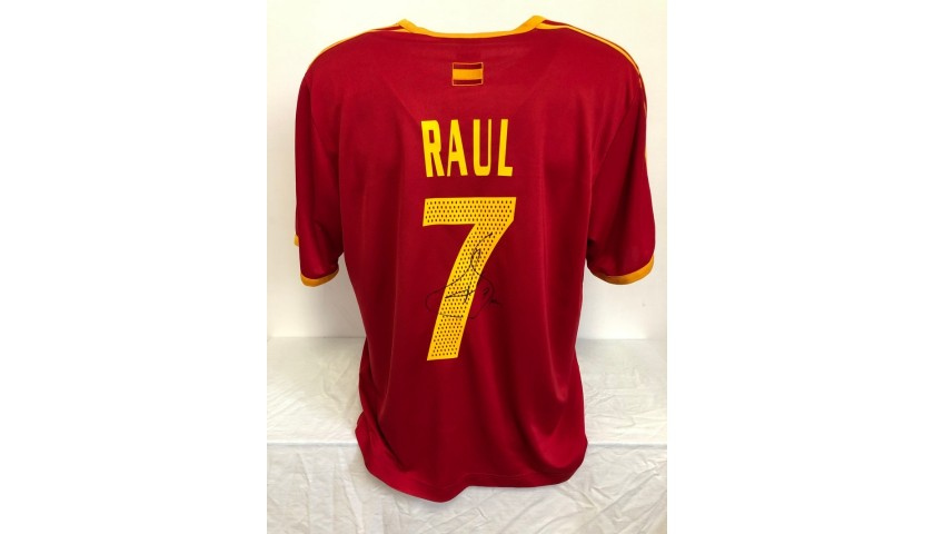 Spain Training Shirt, 2002 - Signed by Raul