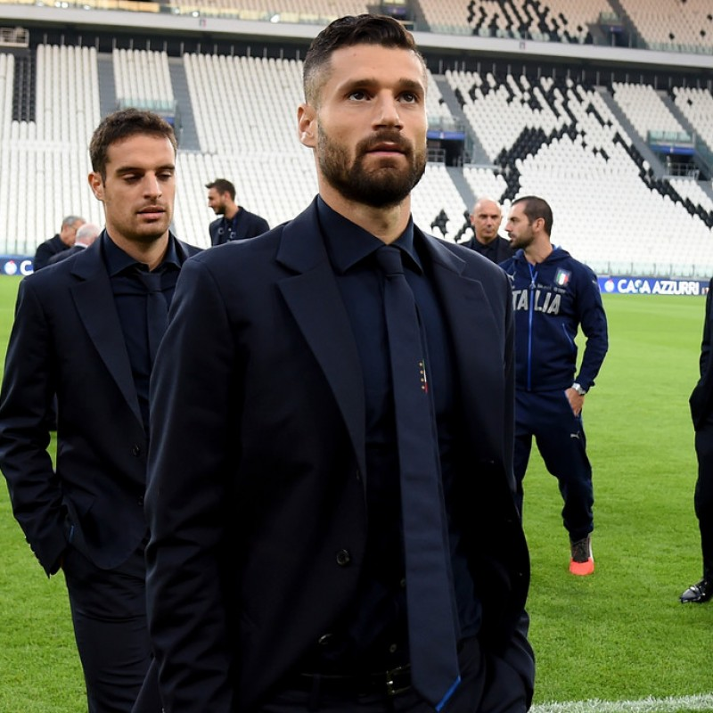 Italy National Football Team Jacket Worn by Antonio Candreva