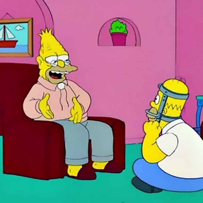 The Simpsons - Abraham Simpson Original Drawing