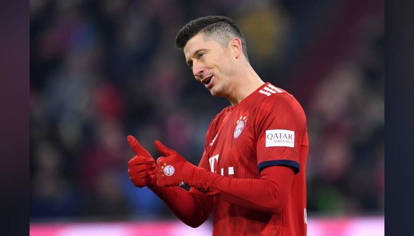 Lewandowski's Bayern Munich Match Shirt, 2018/19