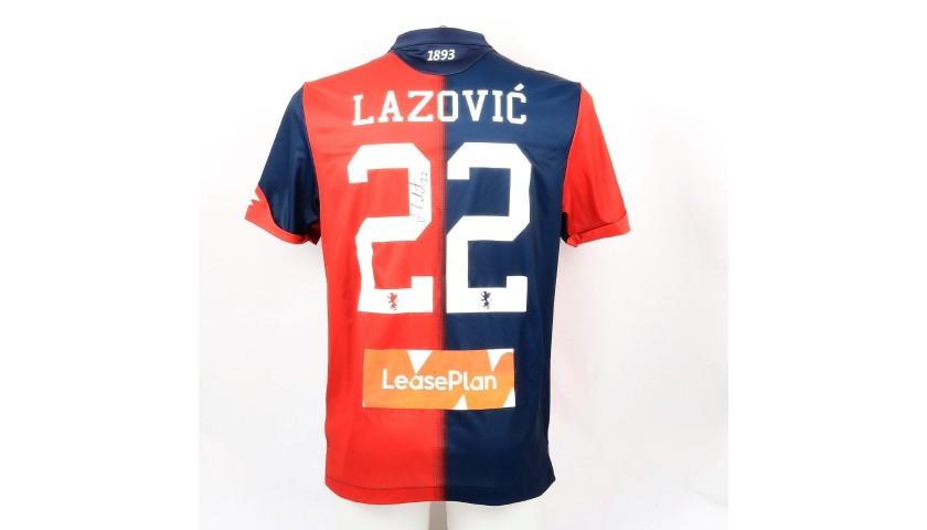 Lazovic's Genoa Match-Issue Signed Shirt, 2018/19
