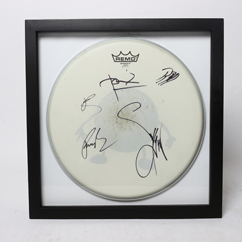 ROB BOURDON – Linkin Park Signed Drum Head