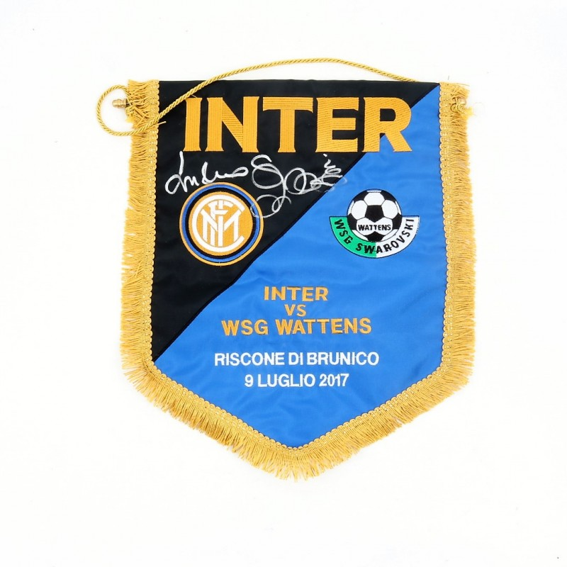 Official Inter-Wattens Pennant Autographed by Spalletti