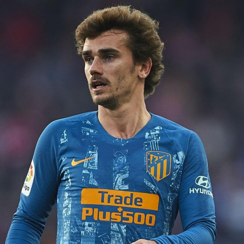 Griezmann's Official Atletico Madrid Signed Shirt, 2018/19