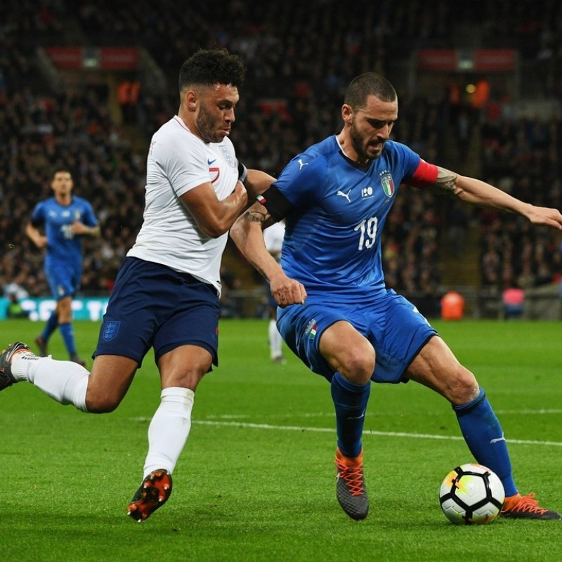 Bonucci's England-Italy Friendly Match-Issue/Worn Kit