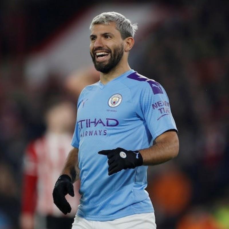 Aguero's Signed Match Shirt, Man City-West Ham 2020 - Special Heads Up