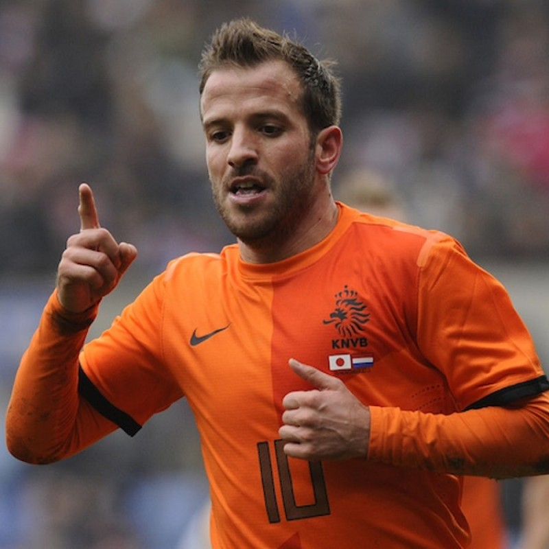 Van der Vaart's Match Shirt, Japan-Holland 2013