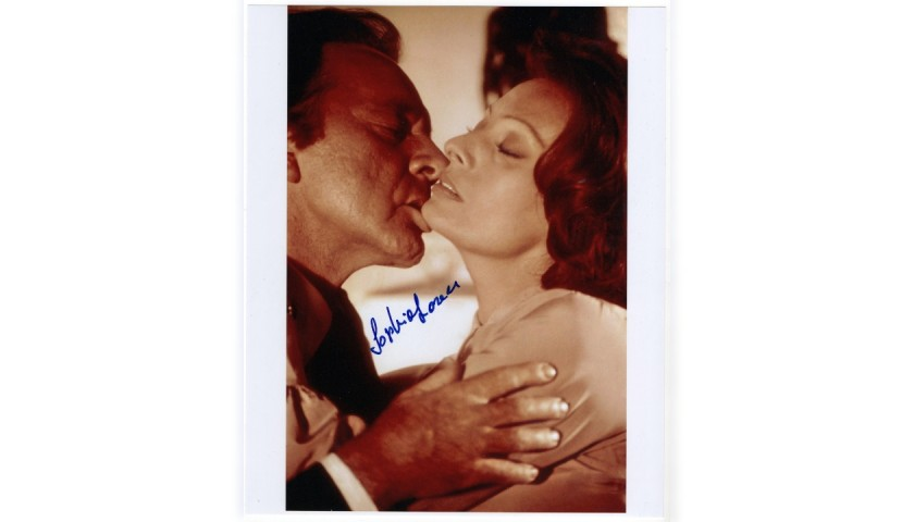 Richard Burton and Sophia Loren - Photograph Signed by the Actress