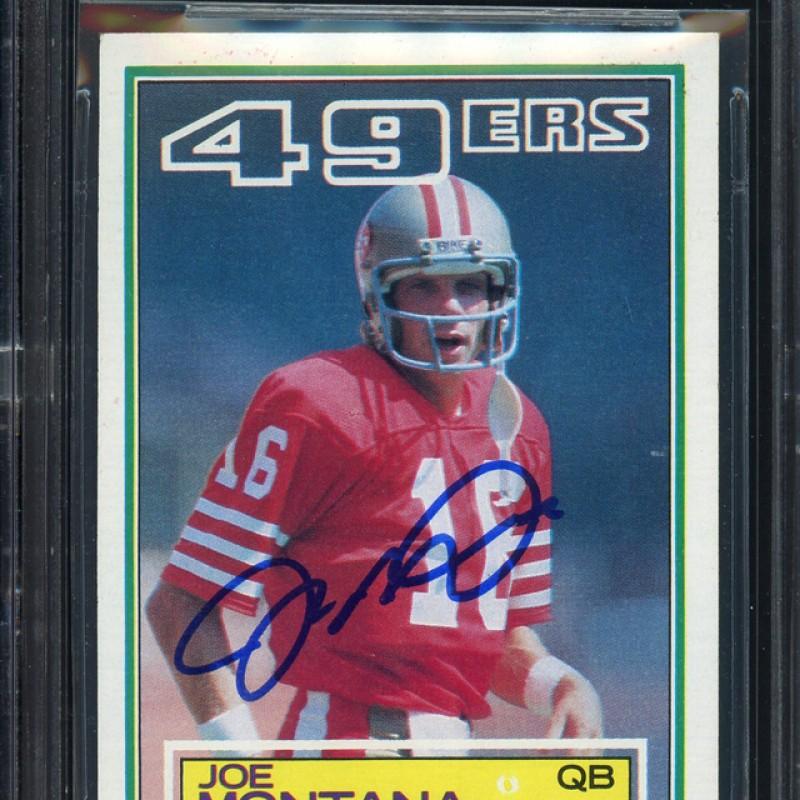 Joe Montana Signed 1983 Topps Card