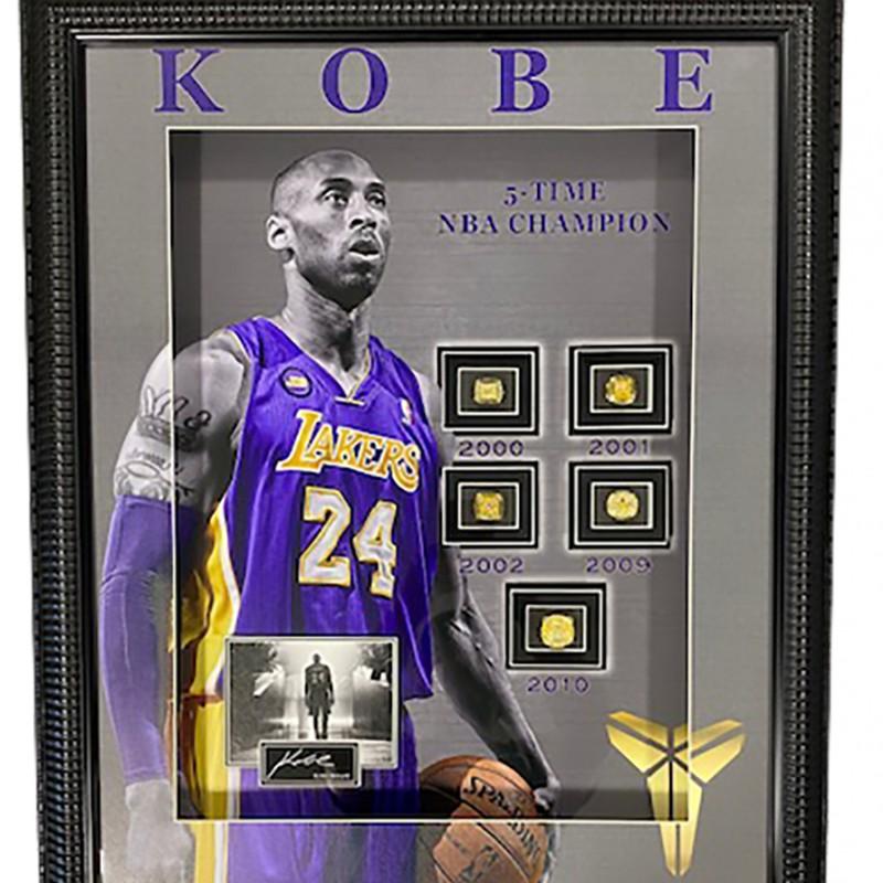 Kobe Bryant Framed Championship Rings