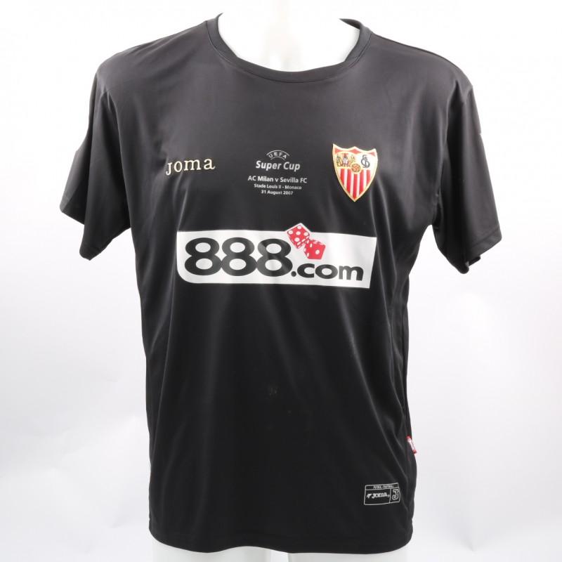 De Sanctis' Sevilla Match-Issue UEFA Super Cup 2007 Shirt