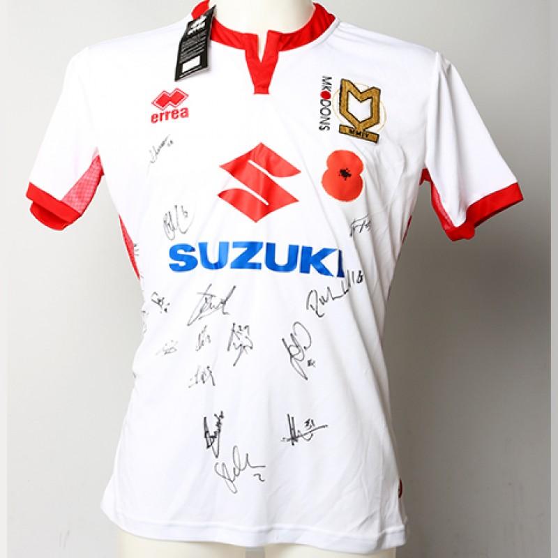 Poppy Shirt Signed by Milton Keynes Dons F.C.