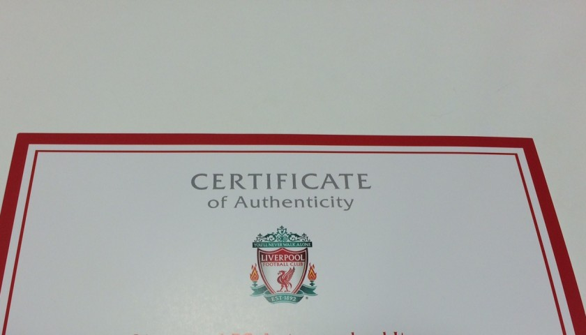 Limited edition 'Seeing is Believing' 2014/15 Liverpool FC shirt signed by Jordan Henderson