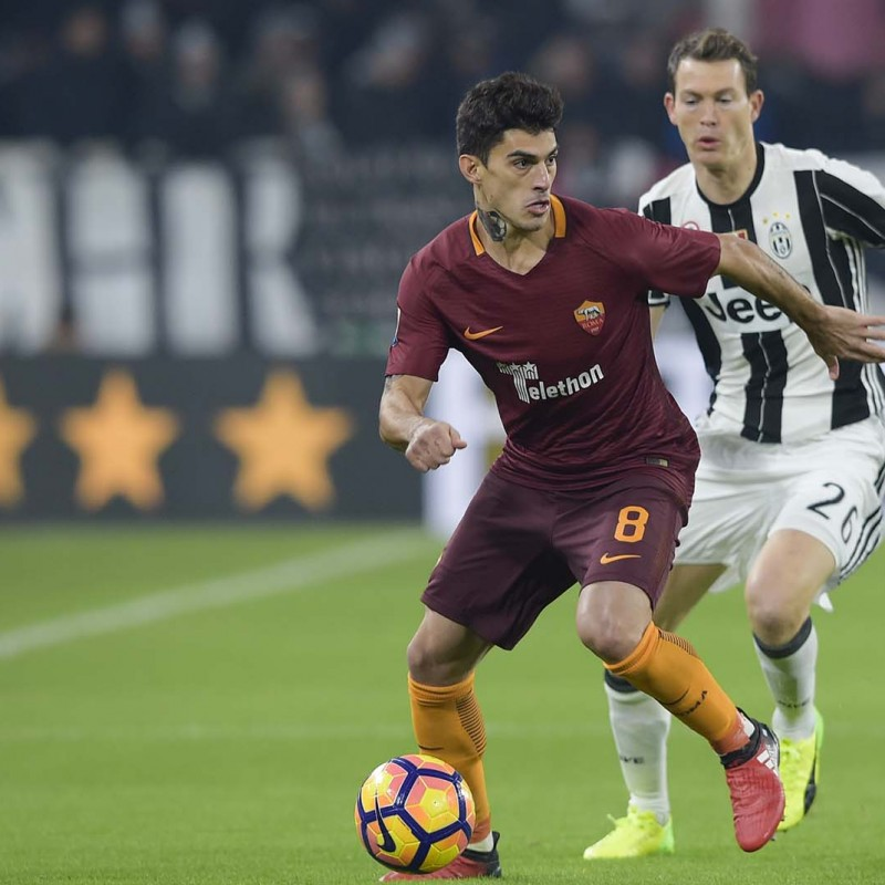 Perotti Match Worn Shirt, Juventus-Roma 17/12/16 - Special Telethon Sponsor