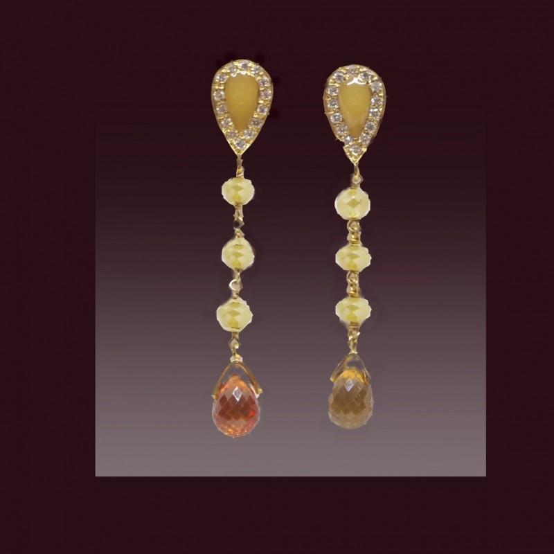 Lingottino Gold and Diamond Earrings
