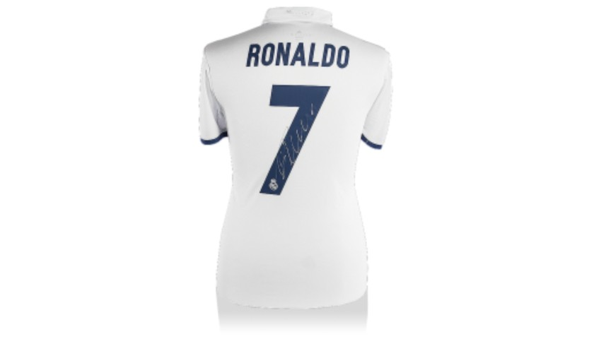 c5f85f609cc Cristiano Ronaldo Hand Signed Real Madrid Soccer Jersey ...