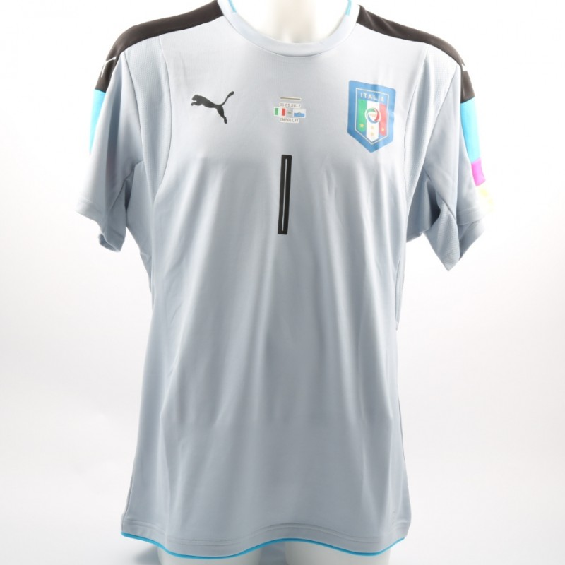 Scuffet's Match-Issue/Worn Italy-San Marino Friendly 2017 Shirt