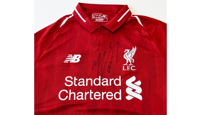reputable site 5d71d ae30d Mohamed Salah Signed Liverpool FC 18/19 Home Shirt - CharityStars