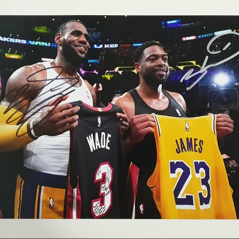 Photograph Signed by LeBron James and Dwyane Wade