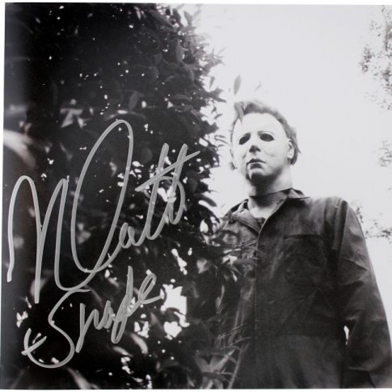 "Nick Castle ""Michael Myers"" Signed Halloween Behind Bush Photo"