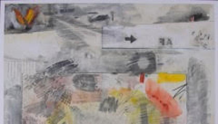 """Square"" by Robert Rauschenberg"