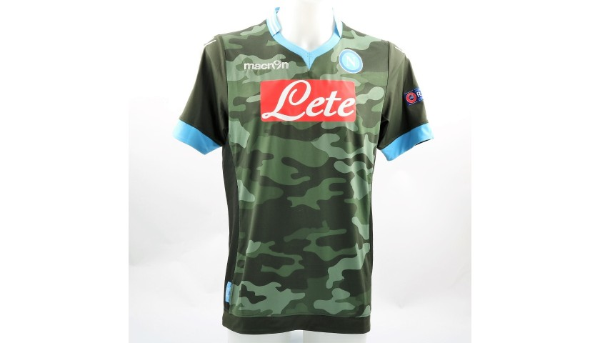 Hamsik S Match Issue Worn Arsenal Napoli 2013 Signed Shirt Charitystars