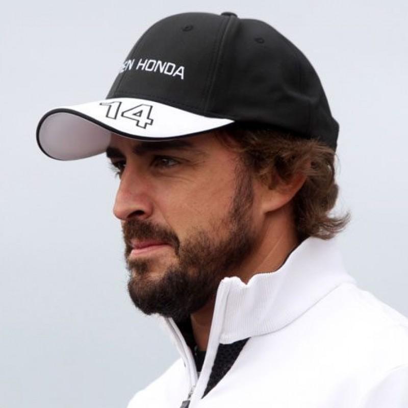 Fernando Alonso's Official McLaren Honda Signed Cap