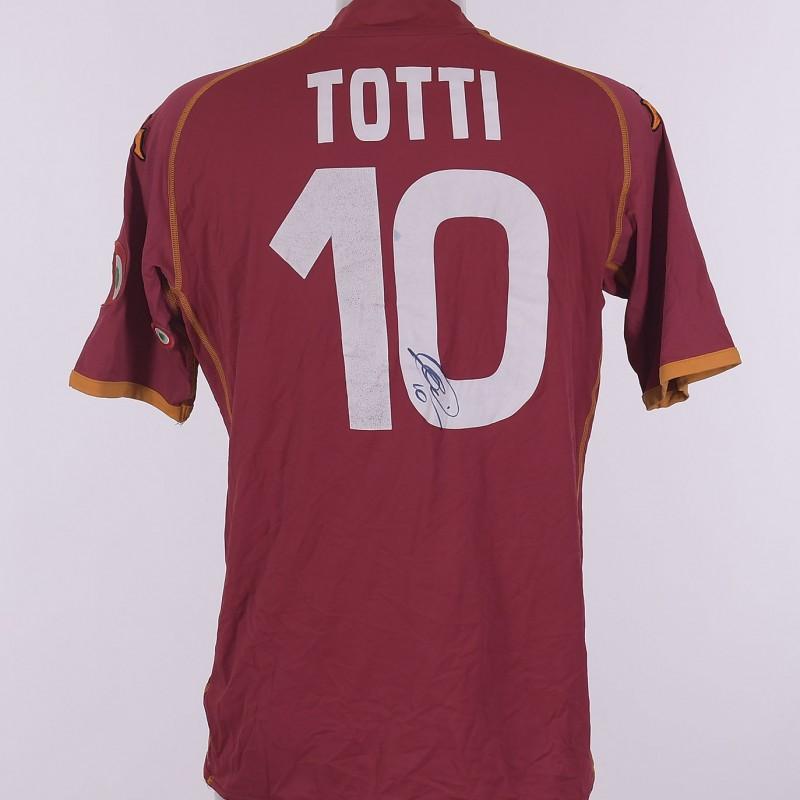 Francesco Totti's AS Roma Signed Shirt, 2008/2009