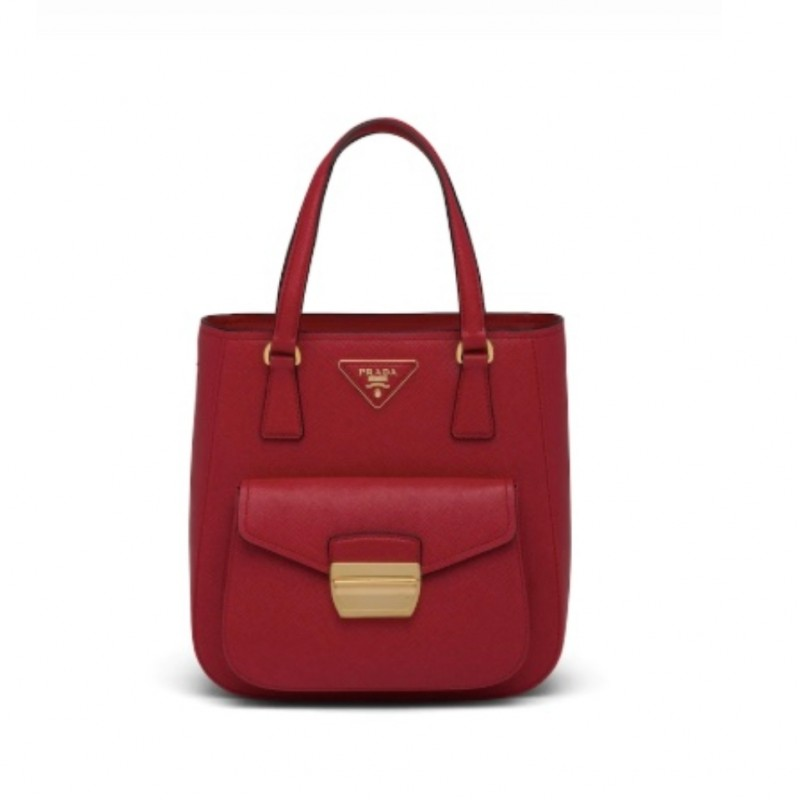 "Prada ""Metropolis"" Bag in Fiery Red"
