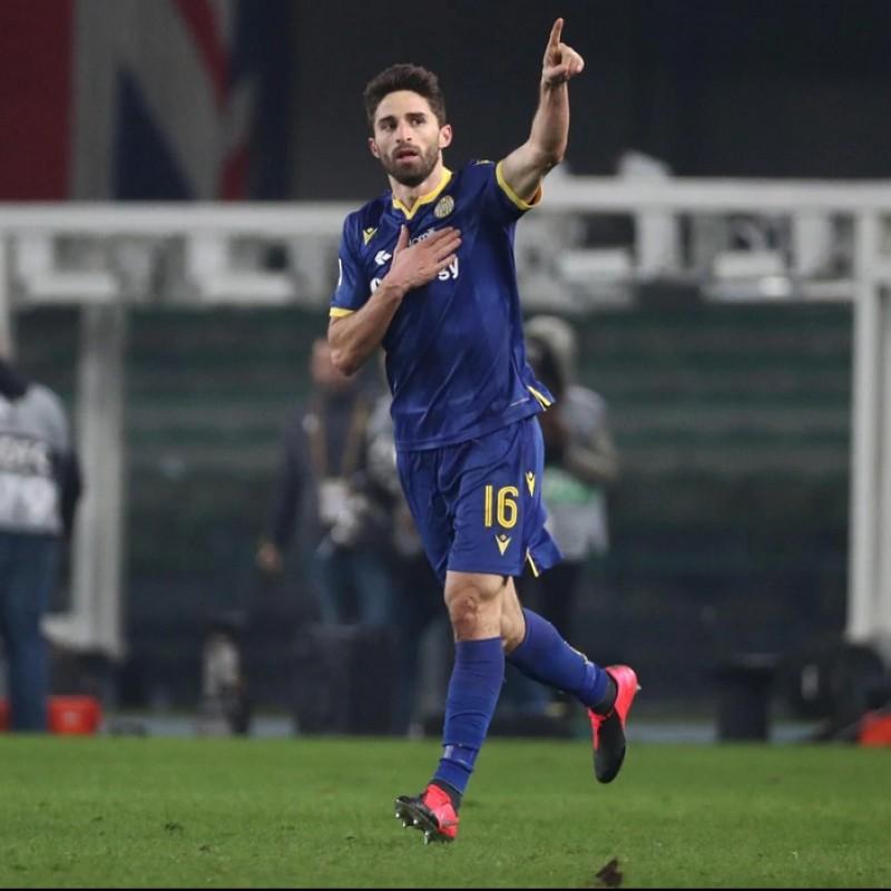 Borini's Match-Issued Shirt, Hellas Verona-Atalanta 2020