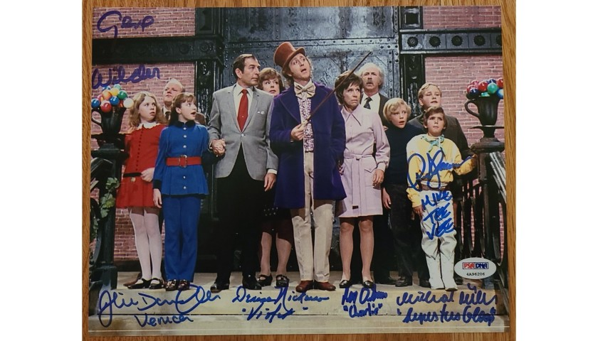Willy Wonka Cast Hand Signed Photograph