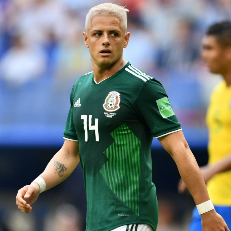 Hernandez's Match Shirt, Brazil-Mexico 2018