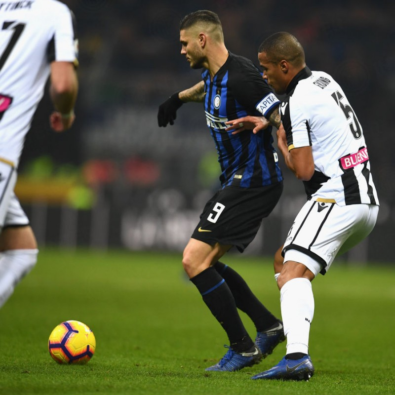 Ekong's Worn Shirt, Inter-Udinese 2018 - UNWASHED