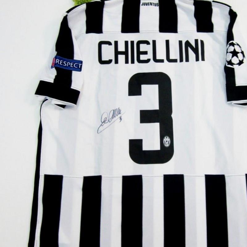 Chiellini Juventus fanshop shirt, Champions League 2014/2015 - signed