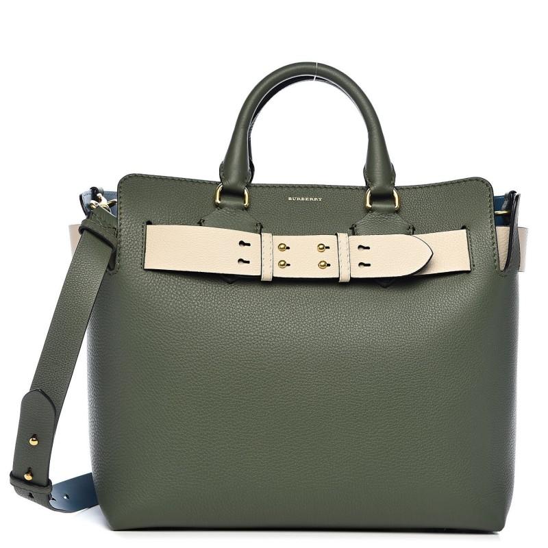 Burberry Medium Green Leather Belt Bag