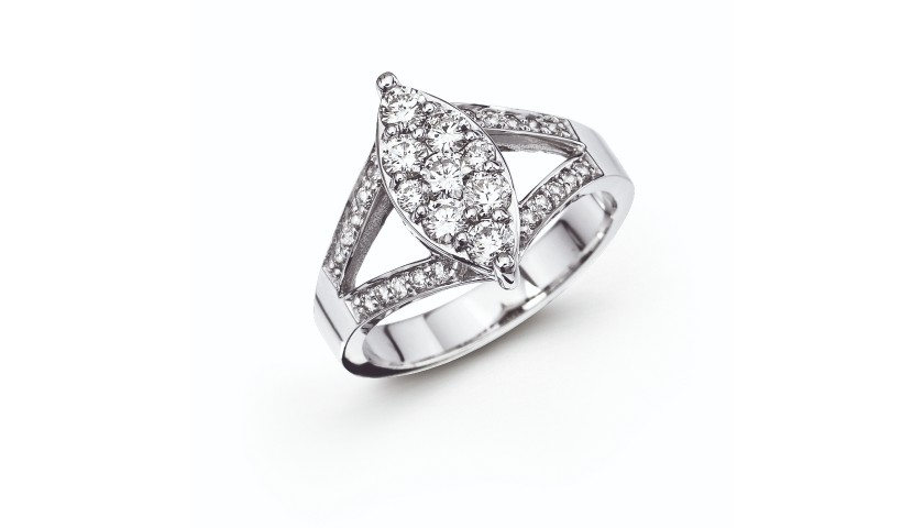 14KT White Gold and Diamond Cocktail Ring